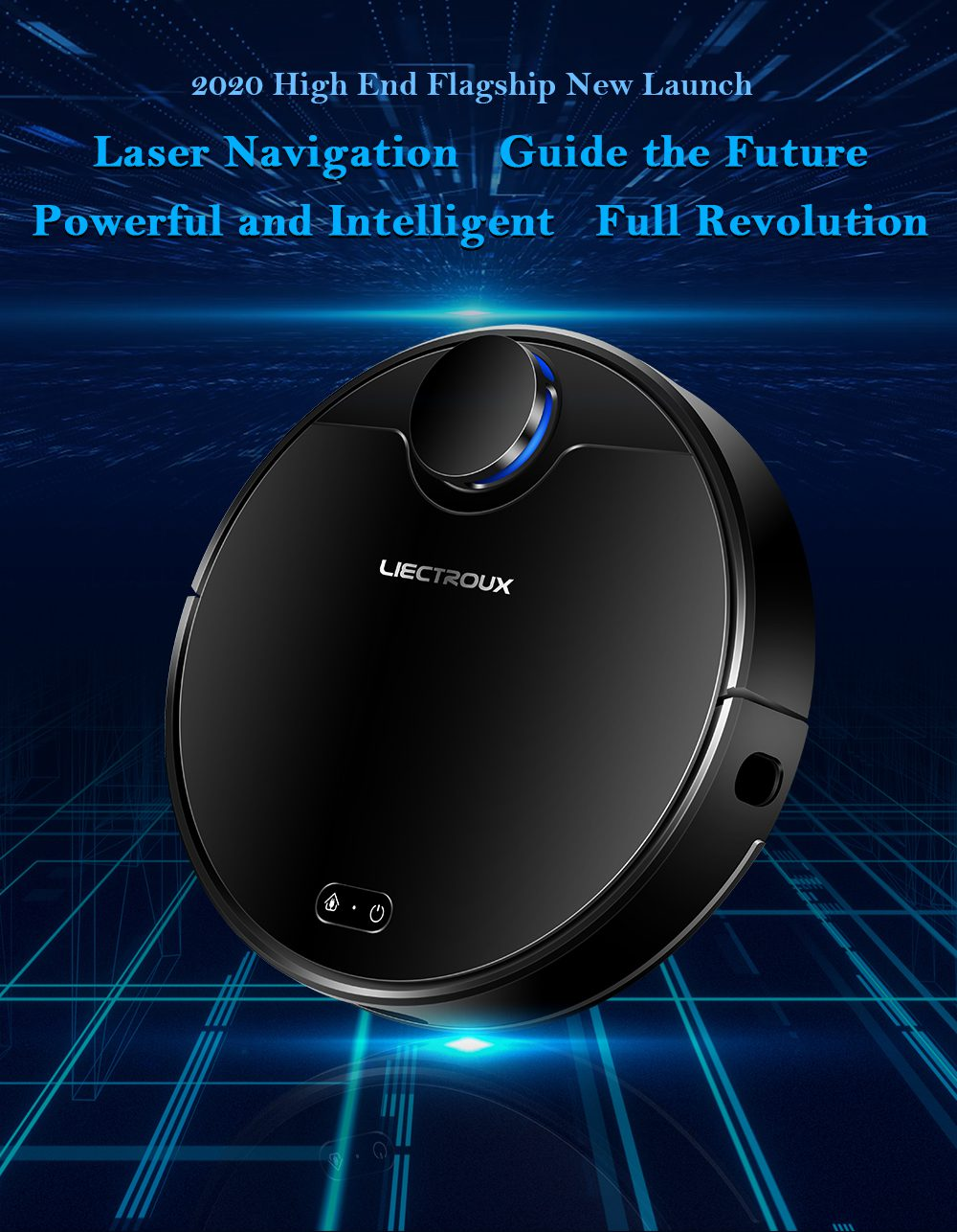ZK901 Robot Vacuum Cleaner - Black